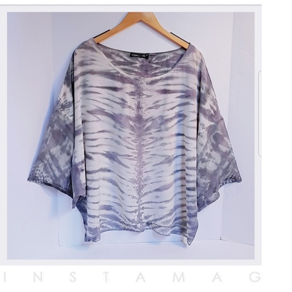 495ff5018335f7 Gypsy 05 Tops - Gypsy 05 Global Village Silk Print Top